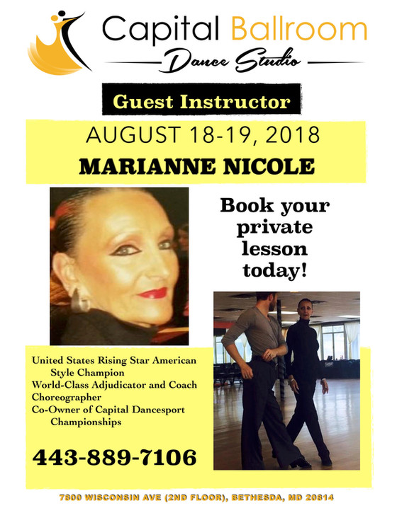 Save the Date!  Marianne Nicole is coming to the studio!!!