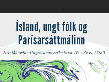 Ísland, ungt fólk og Parísarsáttmálinn