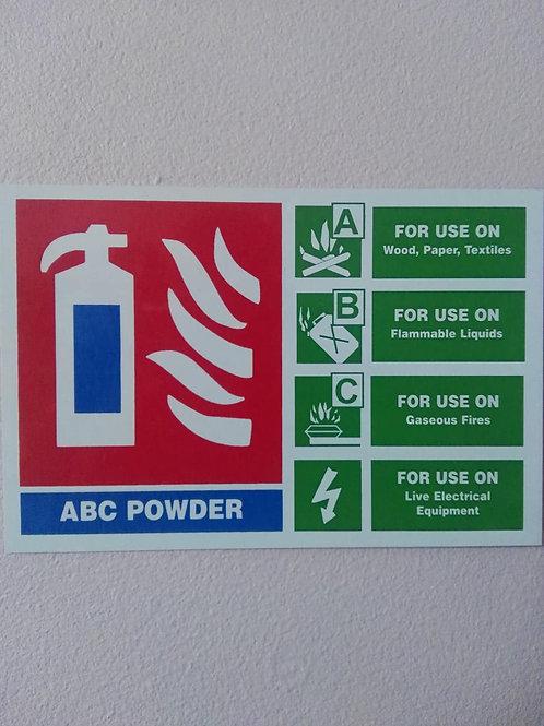 ABC Powder Extinguisher ID Sign