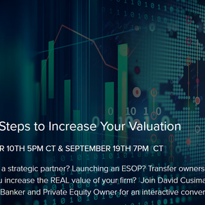Webinar: Action Steps to Increase Your Valuation