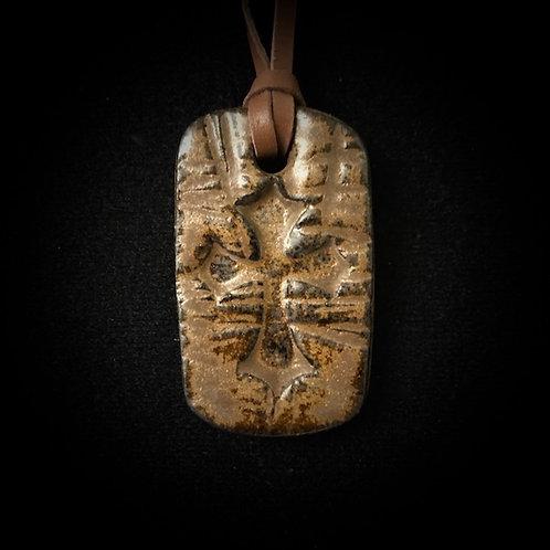 #1206   Cross Medallion Necklace