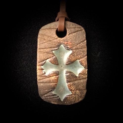 #1205   Cross Medallion Necklace