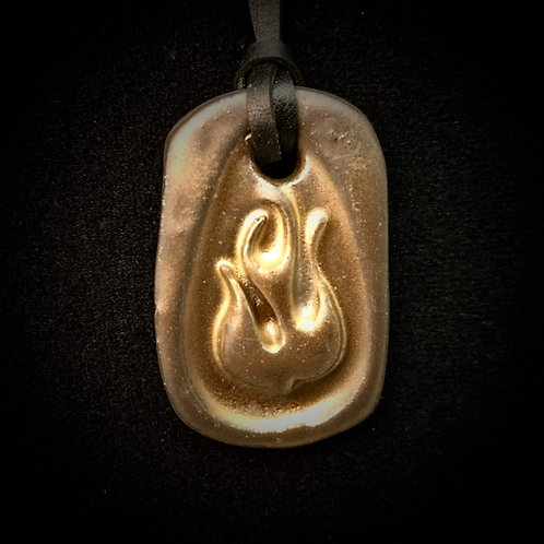 #1227   Fire of the Holy Spirit Medallion Necklace