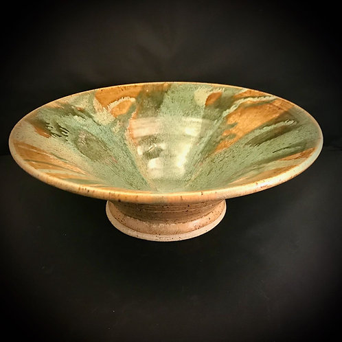 "#1713    Flare Rim 14"" x  4.5"" Lg. Pedestal Bowl"