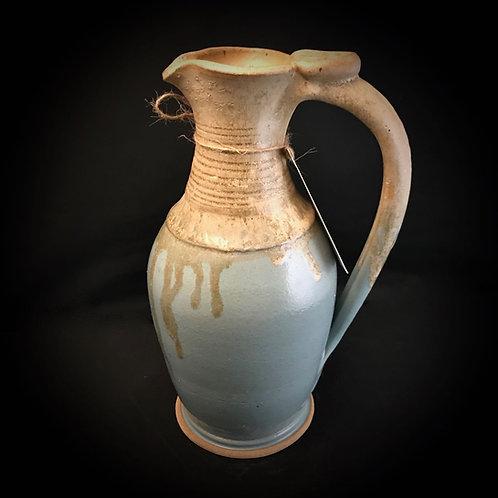 """#1733    Elegant 11"""" x  5.5"""" Stoneware Pitcher"""