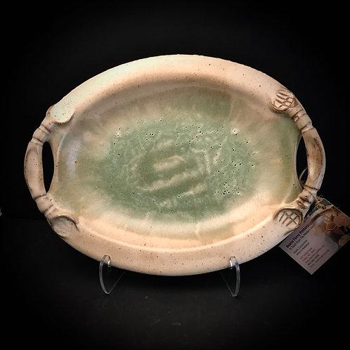 #1772    Medium Oval Handle Platter