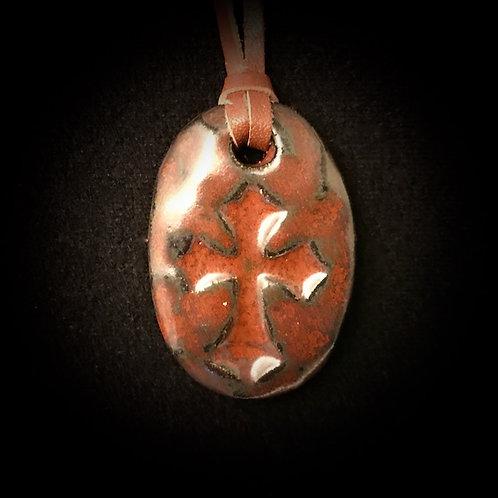 #1204   Cross Medallion Necklace