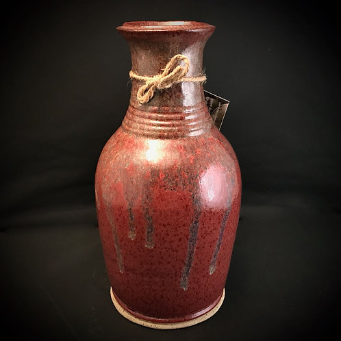 "#1726    Elegant Narrow Neck 10"" x  5"" Stoneware Vase"