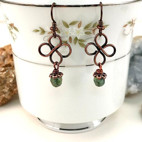 #1577   Small Irish Clover Earrings