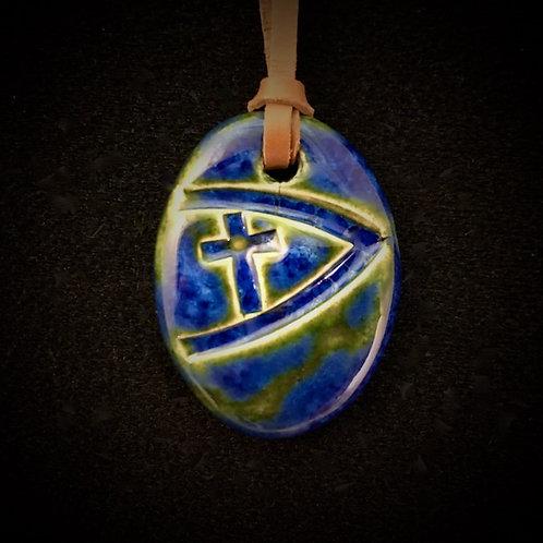 #1217   Ichthus Cross Medallion