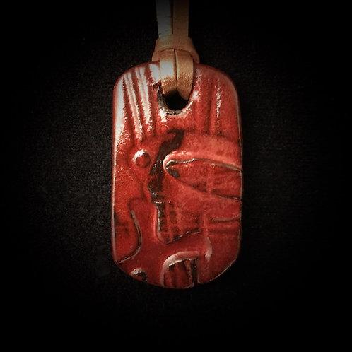 #1225   Ichthus Medallion Necklace