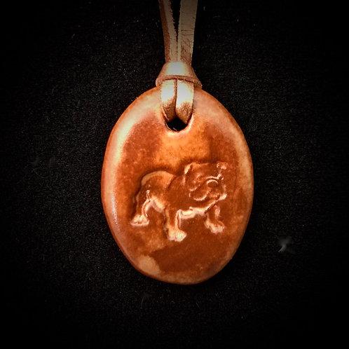 #1201   Bulldog Medallion Necklace