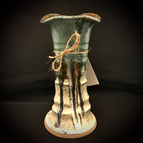 """#1705    9"""" Tall Stoneware Vase"""