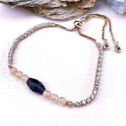 #1539  Gold/Iolite Bracelet