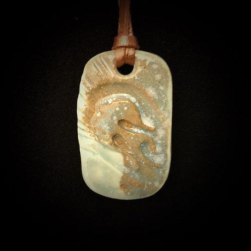 #1208  Dove Medallion Necklace