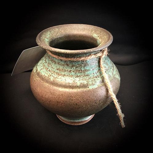 """#1738    Antique Art Sm. 5"""" x  5"""" Stoneware Vase"""