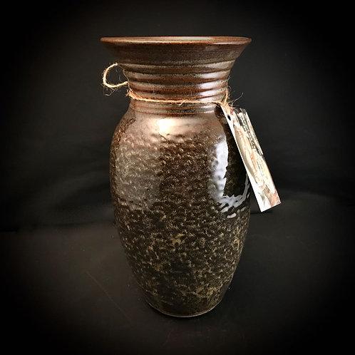 """#1723    Stippled 10"""" x  5"""" Stoneware Vase"""