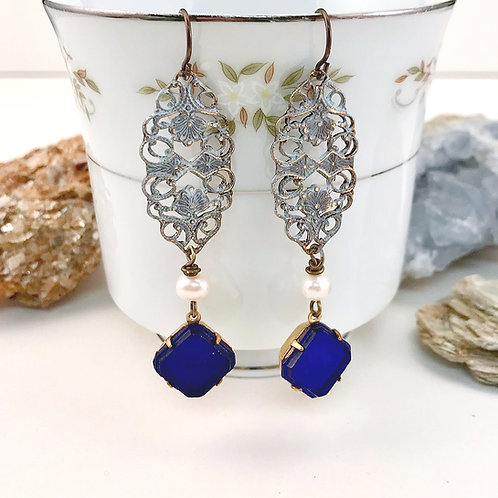 #1590   Vintage Sapphire Aura