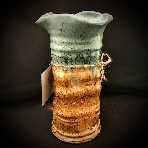 "#1710    10"" Tall Lg. Stoneware Vase"