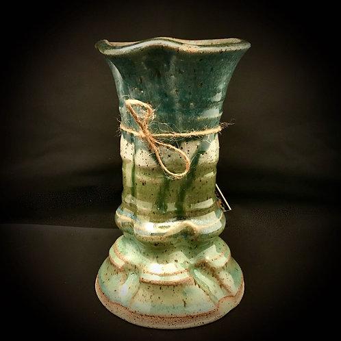 """#1702    7"""" Tall Stoneware Vase"""