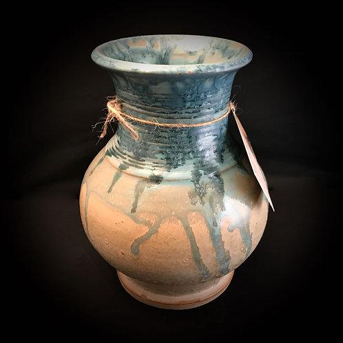 """#1721    Large Mouth 8.5"""" x  6.5"""" Stoneware Vase"""