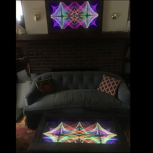 Warp Field Table and Wall Art pair
