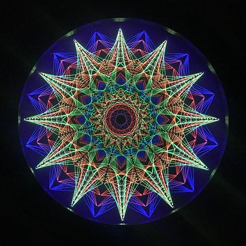 Star Burst - String Art - UV Frame