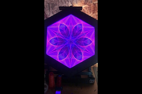 Hexagon spectral string art with lighting