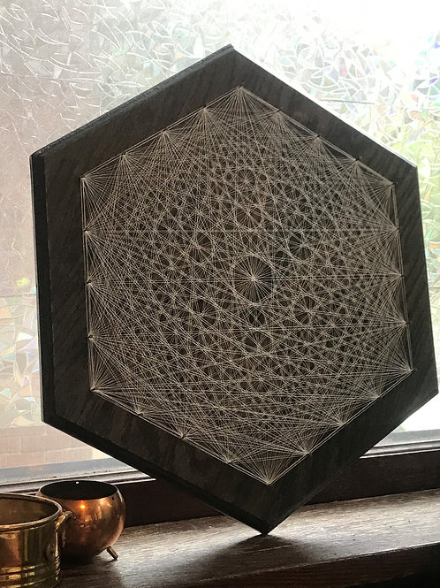 Glow in the dark String Art Hexagon 20""