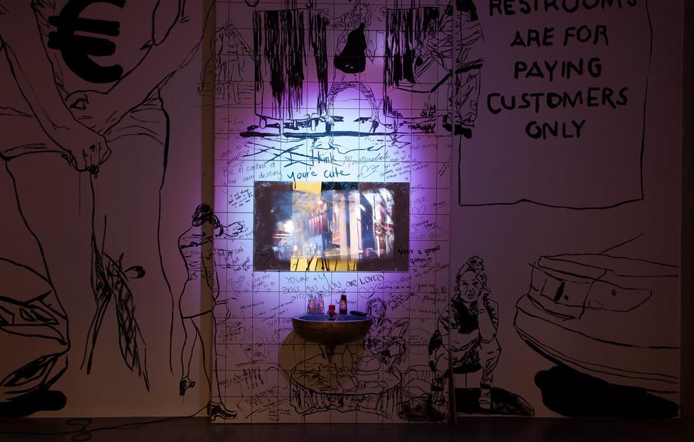 Urinary Arrogance, 2019, IKOB Feminist Art Prize 2019,  Eupen (BE), Photo courtesy of  IKOB
