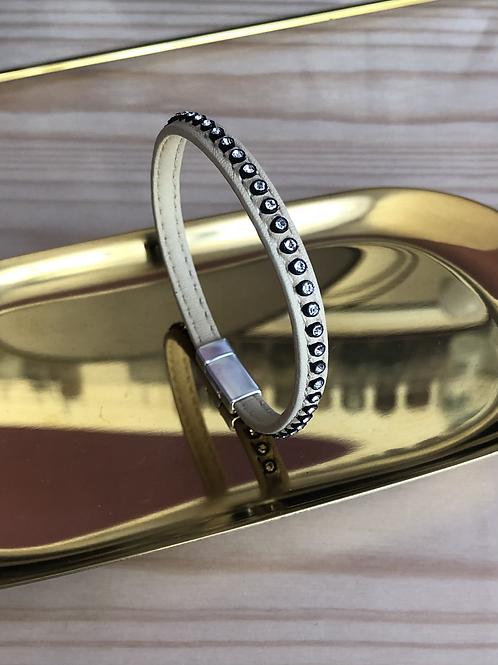 Bracelet beige strass
