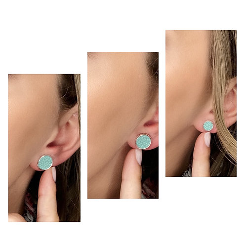 Puces d'oreille en cuir - Différentes tailles et couleurs