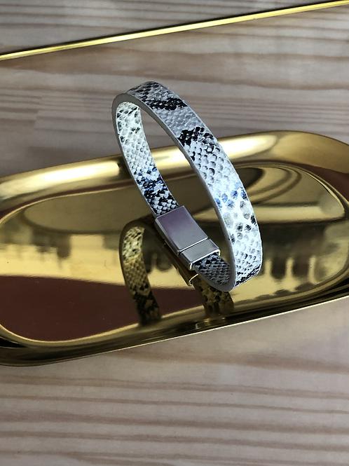 Bracelet simili cuir effet serpent