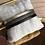 Thumbnail: Bracelet cuir marron kaki or