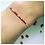 Thumbnail: Bracelet Blanc Fin Rouge et Blanc