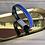 Thumbnail: Bracelet cuir suédine bleu