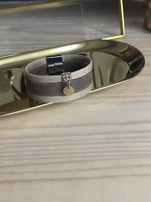 Bracelet cuir enfant marron