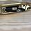 Thumbnail: Bracelet cuir scintillant noir fin