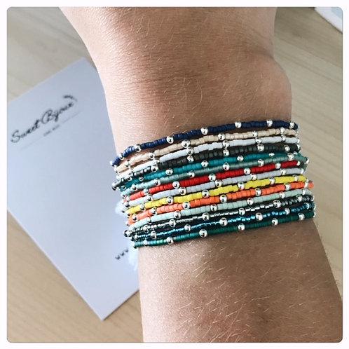 Bracelet Elastique Perles (plusieurs coloris)