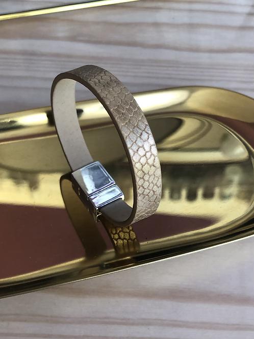 Bracelet beige métallisé