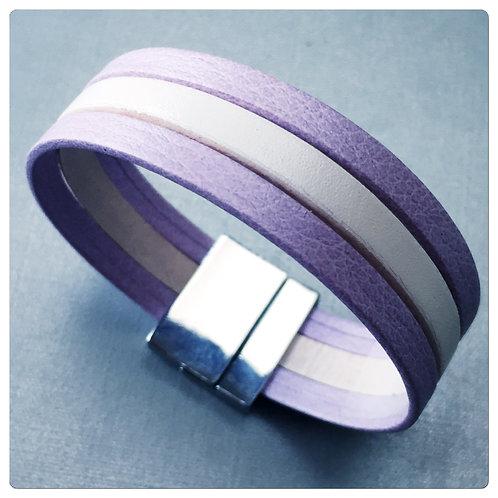 Bracelet Cuir Doux Lilas