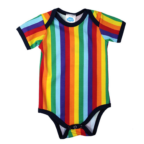 Rainbow Stripe Bodysuit For Babies, Toddlers
