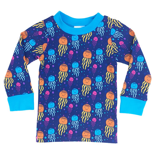 Organic Happy Jellyfish Long-Sleeve T-Shirt For Toddlers, Kids