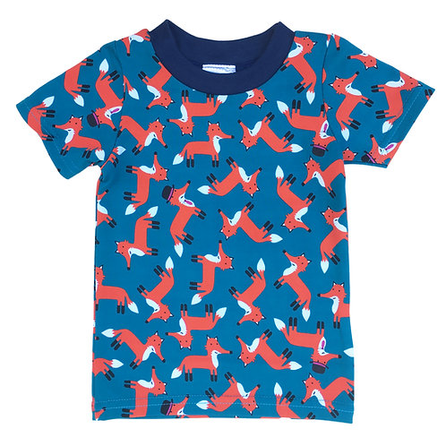 Organic Well-Dressed Fox Short-Sleeve T-Shirt For Toddlers, Kids
