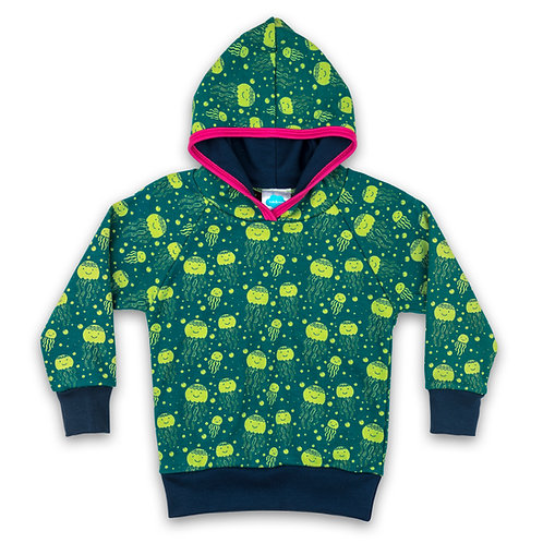 Happy Jellyfish Hoodie For Toddlers, Kids