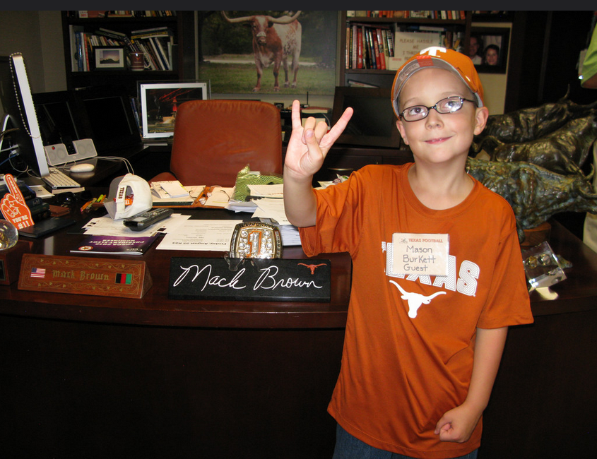 Mason in Mac Brown's Office