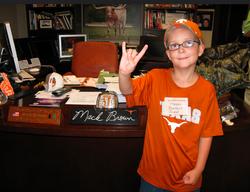 Mason in Mac Brown's Office
