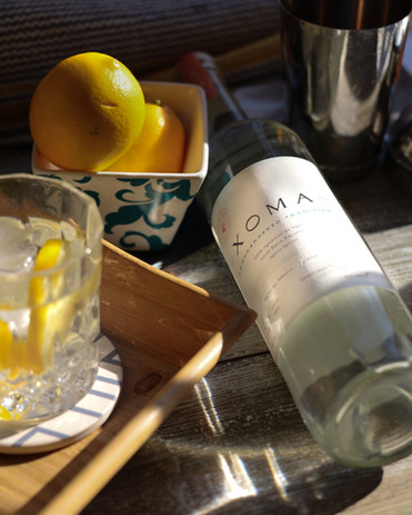 Drink Xoma on the rocks with Lemon