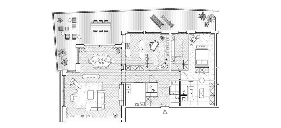 woningplattegrond, plattegrondvariant, nieuwbouw woning, nieuwbouw appartement, penthouse, woning op maat