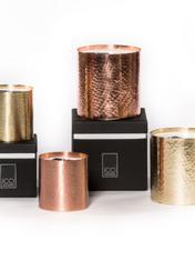 Bougies parfumée HAMMERED METAL COPPER/GOLD